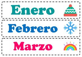 Poster Spanish Los Meses Del Ano Y Los Dias De La Semana By