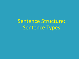 Simple, compound and complex sentences