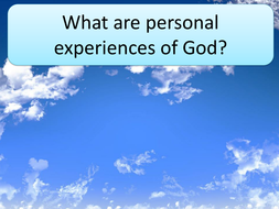 GCSE RS/RE lesson for Christianity  - Personal experiences of God - fully resourced