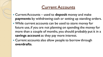 powerpoint on current accounts by dub3415 teaching resources tes