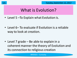 KS3 RE/RS lesson - Evolution - fully resourced