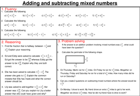 adding subtracting multiplying and dividing mixed number fractions  adding subtracting multiplying and dividing mixed number fractions   mastery worksheets