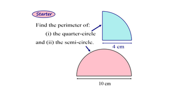 Perimeter of Curved Shapes