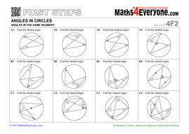 circle theorems first steps by maths4everyone teaching resources. Black Bedroom Furniture Sets. Home Design Ideas