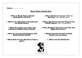 Black history month 2018 pack assembly lesson presentation quiz black history month quizcx ibookread Download