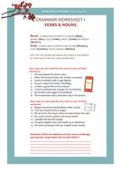 Grammar Worksheet 1 : Nouns & Verbs