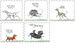 Hairy Maclary poetry resource pack- KS1- verbs, rhyme