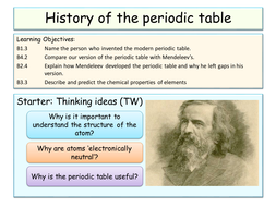 lesson 4 history of the periodic table