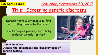 AQA new specification-Screening genetic disorders-B13.10