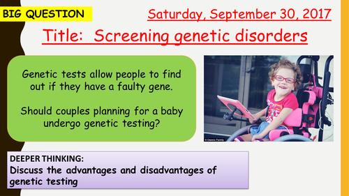 AQA new specification-Screening genetic disorders-B13.10