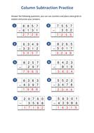 Subtraction---Column-method-practice---Answers.pdf