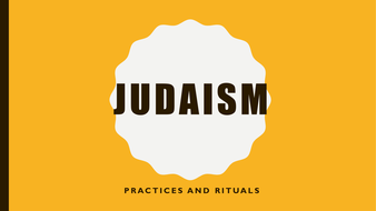 Practices of Judaism by travellingbelle   Teaching Resources