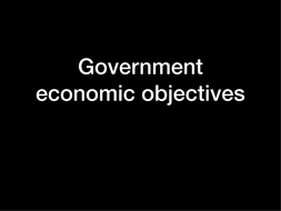 igcse business studies government objectives and policies by