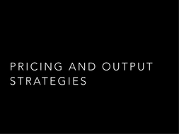 IGCSE Economics - Pricing strategies by kavitaantoni | Teaching