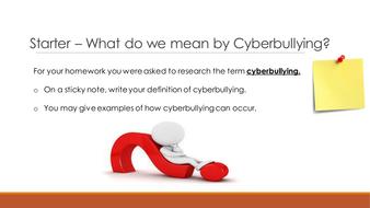 KS3 E-Safety (Cyberbullying)