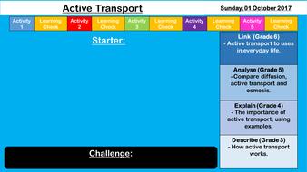 Active Transport - NEW AQA GCSE