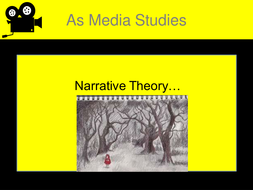 Narrative Theory AS Media Studies