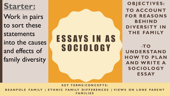 aqa as sociology families households family diversity essay essay writing