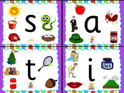 Jolly Phonics Letters Sassoon Font- 1/4 size Mini-Flashcards (11 ...