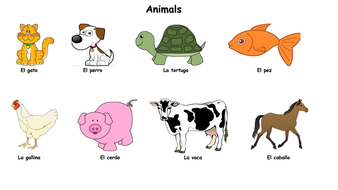 Image result for animals in spanish