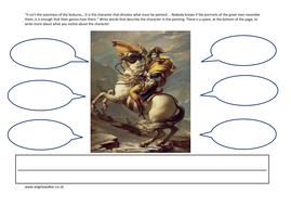 Napoleon - a history of art worksheet to infer character by ...