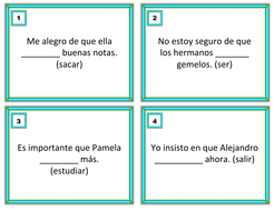 Present Subjunctive Task Cards - Subjuntivo