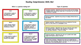 Reading Comprehension Mat