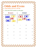 odd and even number worksheet for grade 3 students by omerrasool ...
