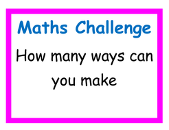 Independent  maths challenges for KS1