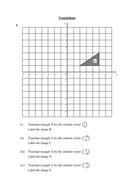 Translations worksheet (transformation of shapes)