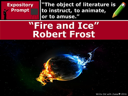 fire and ice by robert frost text dependent analysis expository