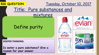 AQA new specification-Pure substances and mixtures-C10.1