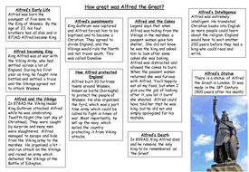 KS3 History: How great was Alfred the Great?