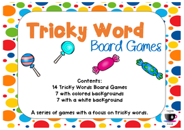 Jolly Phonics Tricky Word Board Games by teachinginateacup ...