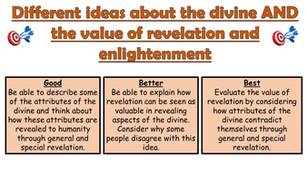 AQA A GCSE Theme C Existence of God: Lesson 7 and 8 Attributes of the  Divine and Value of Revelation