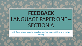 AQA GCSE English Language Paper 1 Practice Papers and Feedback