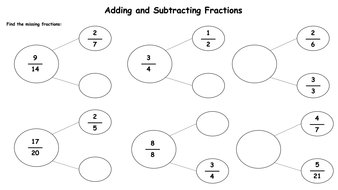adding and subtracting fractions worksheets by krisgreg  teaching  adding and subtracting fractions worksheets