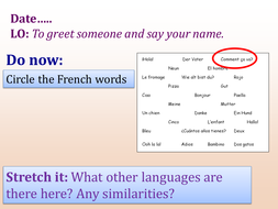 Ppt greet someone and say your name french by cappuccino12 french greet someone and say your name m4hsunfo