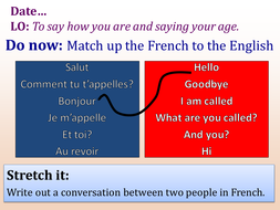 how to say dating someone in french