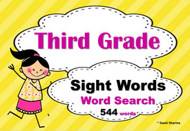 third grade sight words word search by swati3 teaching resources tes