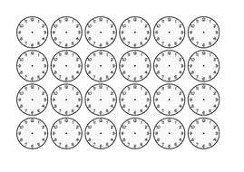 24 Blank Clock Faces by xwizbt - Teaching Resources - Tes