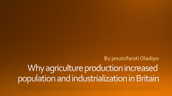 why agriculture important me