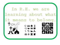 PowerPoint to accompany RE unit 'What it means to belong' for  ks 1- 6 lessons