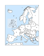 Maps of Europe in French packet