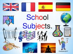 school subjects for esl efl students by cgazzal teaching
