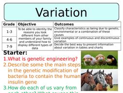 NEW AQA GCSE Trilogy (2016) Biology - Variation