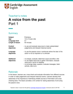 Otzi: A voice from the past - A history CLIL lesson plan