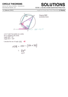 GCSE 9-1 Exam Question Practice (Circle Theorems) by
