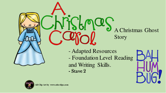 A Christmas Carol - Adapted Stave 2 by flissthecat   Teaching Resources