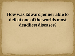 AQA GCSE 9-1 Health and the People Jenner and the discovery of smallpox vaccination
